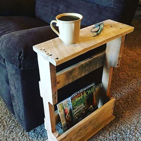 Small Pallet  Side Table Ideas                                                                                                                                                                                 More