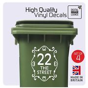 Look what I just bought on eBay: 4 x WHEELIE BIN NUMBERS VINYL STICKERS WITH STREET/ROAD/HOUSE NAME - ANY COLOUR