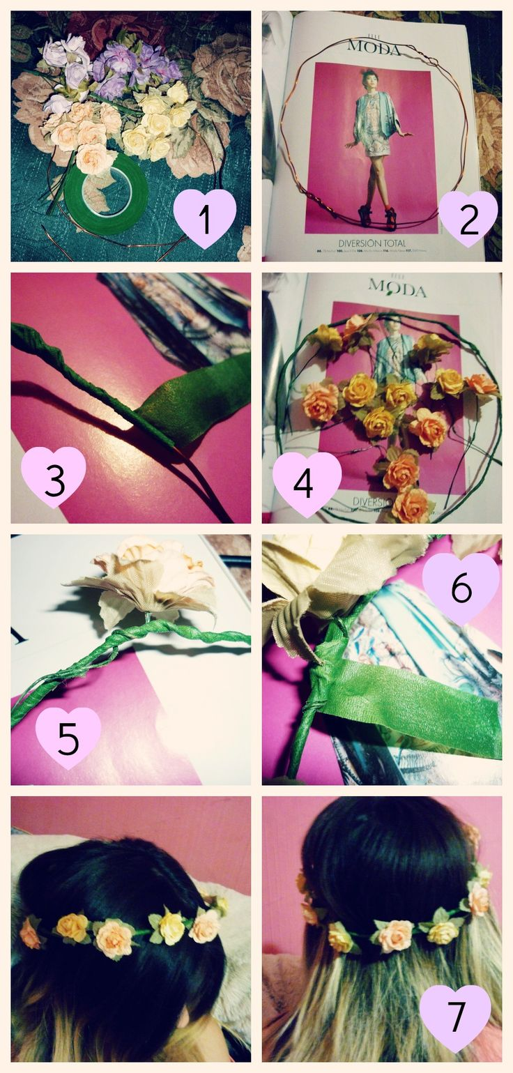 DIY Corona de flores, flower crown