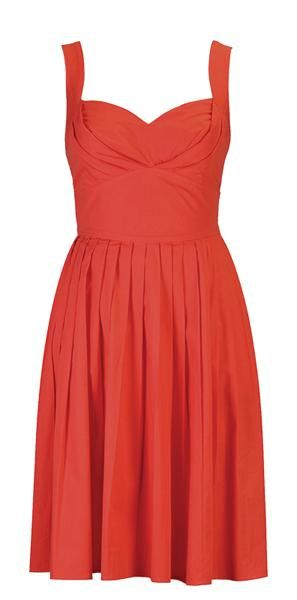Orange bridesmaid dress - great for an outdoor #wedding