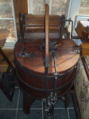 vintage washing machines and accessories | Antique Wood Hand Operated Wringer Washing Machine Looks Like A Maytag ...