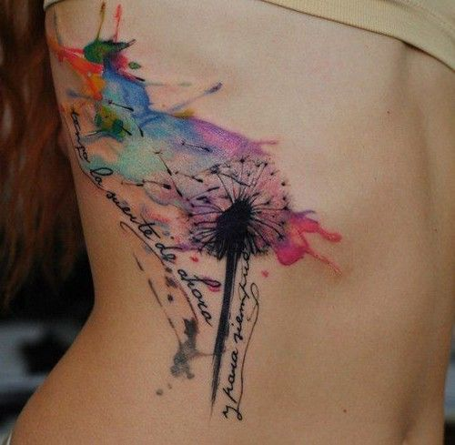 Why You Should Or Shouldn T Get A Watercolor Tattoo: Best 25+ Watercolor Dandelion Tattoo Ideas On Pinterest