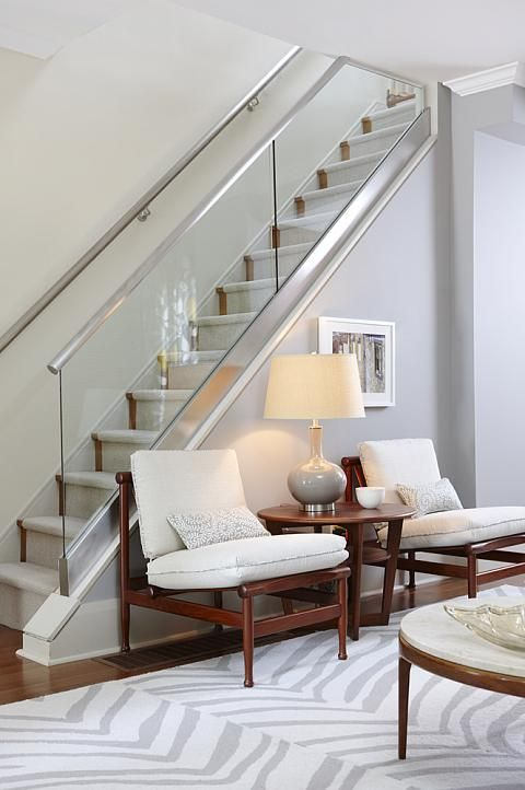 sarah richardson sarah 101 contemporary living room midcentury modern furniture glass stairs