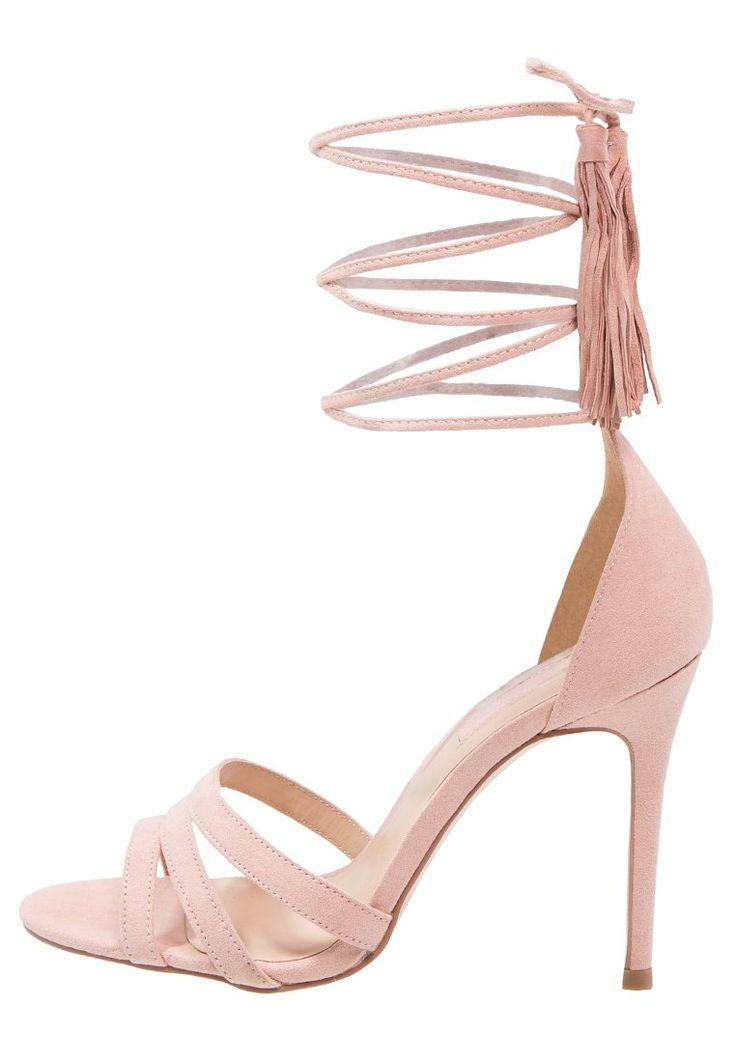 Dorothy Perkins SUNSET Sandały na obcasie snurowane na kostce pink