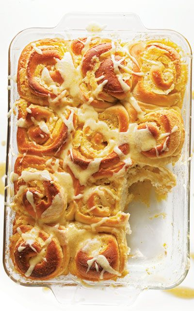 Sweet Orange BunsSweets Orange, Saveur Com, Cinnamon Rolls, Food, Orange Rolls, Buns Recipe, Orange Buns, Orange Juice, Sweets Rolls