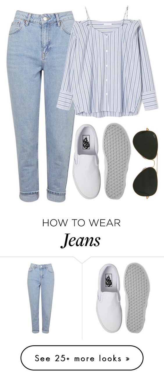 """""""Untitled #806"""" by r0sesandtea on Polyvore featuring Topshop, Vans and Ray-Ban"""