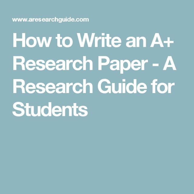 How to Write an A+ Research Paper - A Research Guide for Students