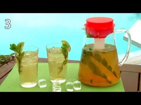 Domáci ľadový čaj - recept na osviežujuci letný nápoj - VIDEO Ako sa to robí.sk
