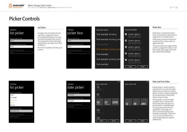 Avanade - Windows Phone Documents by Agustin Dana, via Behance