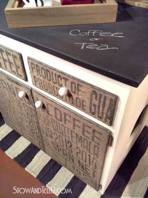 burlap-coffee-bean-sack-furniture-chalkboard-top-http://www.stowandtellu.com