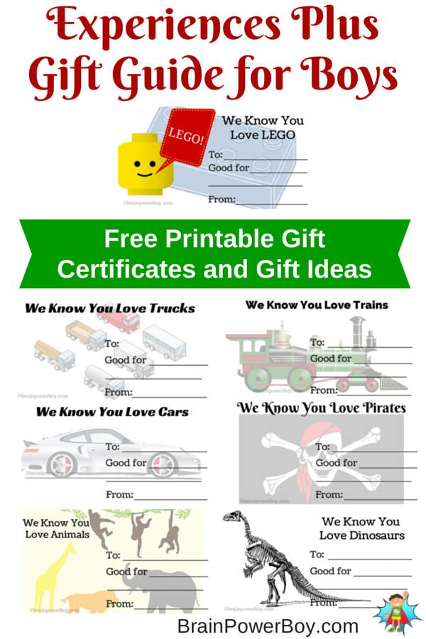 make a gift certificates