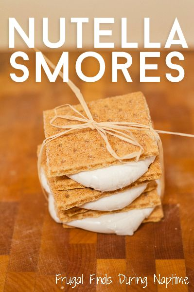 Try these tasty Nutella Smores!  #Nutella #Smores