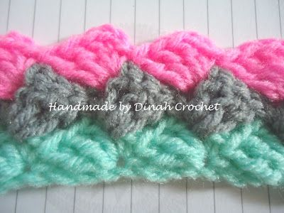 Dinah Crochet: Slanted shell stitch                                                                                                                                                                                 More