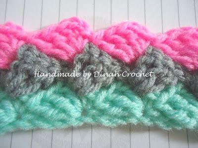 Dinah Crochet: Slanted shell stitch                                                                                                                                                                                 More