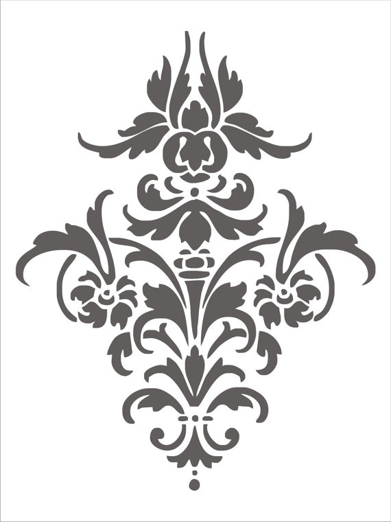 cute scroll stencil designs. This is a perfect damask motif in stencil format  43 best Pattern images on Pinterest Embroidery Stencil designs