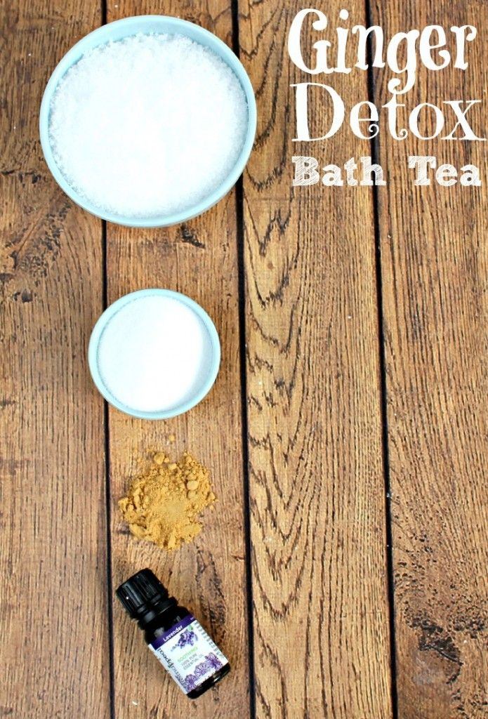 Detox Bath Recipes   Detox Bath with Ginger  Why should you detox? That's probably the biggest question I had before I started. We put all kinds of junk into our bodies. We don't always eat healthy, we drink too much coffee, we're exposed to illnesses, artificial ingredients and pollutants in our every day lives. Our bodies try very hard to remove things that it doesn't want or need. We can help our bodies naturally detox by taking a detox bath with ginger and other natural ingredients.