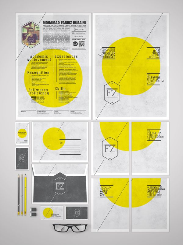 CV & Self-Branding - 1 by Faridzs Design Suite, via Behance