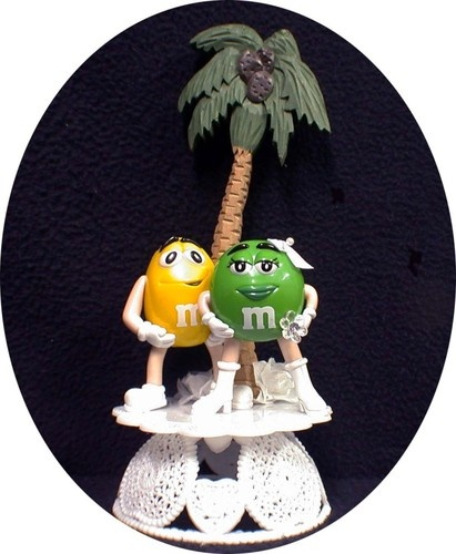 M And M Wedding Cake Topper