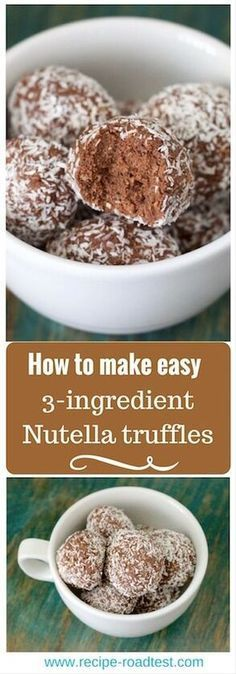 Craving something sweet? These 3-ingredient Nutella truffles are made from things you probably have down the back of the cupboard, and only take 10 minutes!
