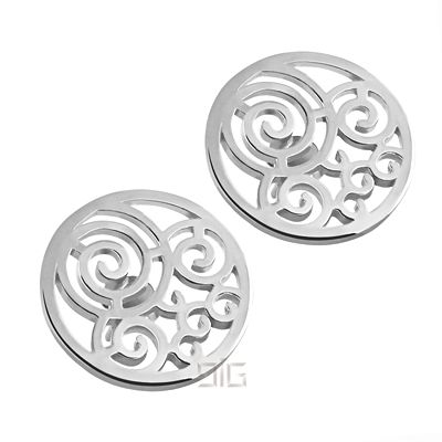 "Silver earrings ""Spiral"""