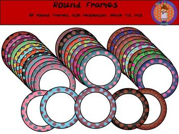 This zip file include 38 colorful round frames with white fill. Enjoy it!