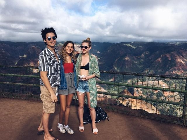 Image result for cole sprouse lili reinhart in hawaii