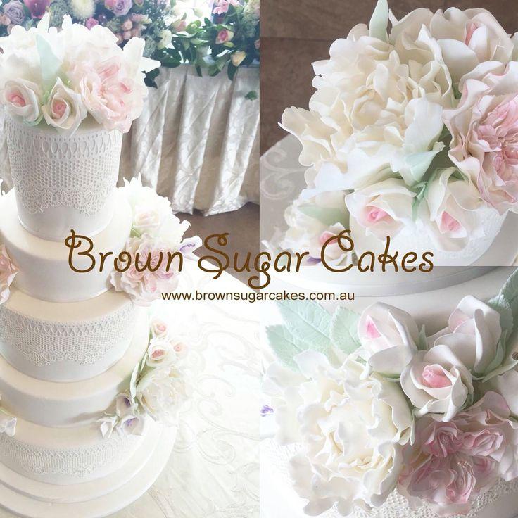 #wedding#cake#sugarflowers
