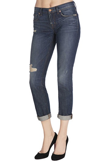 Delicately worn-in, the Aidan jean offers the perfect combination of slouch and style.Boy JeanMid-Rise13-Inch Leg Opening30-Inch Inseam100-Percent. CottonMade in USA
