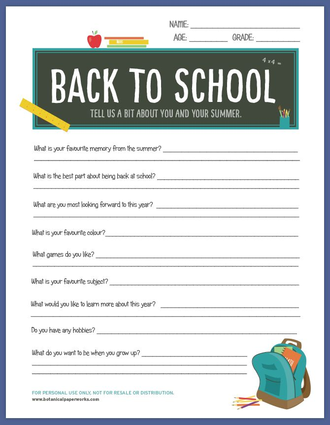 This FREE printable for teachers will help them get to know their new students a bit better on the first day of class.