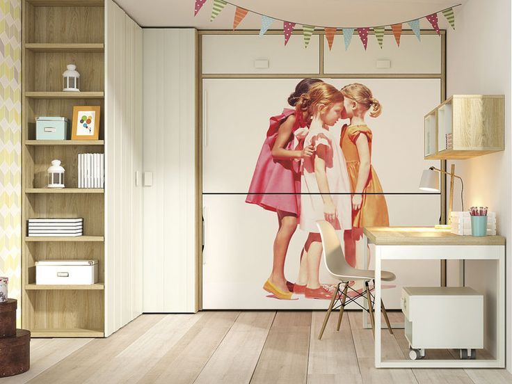 Las literas abatibles son la solución para cuartos pequeños...