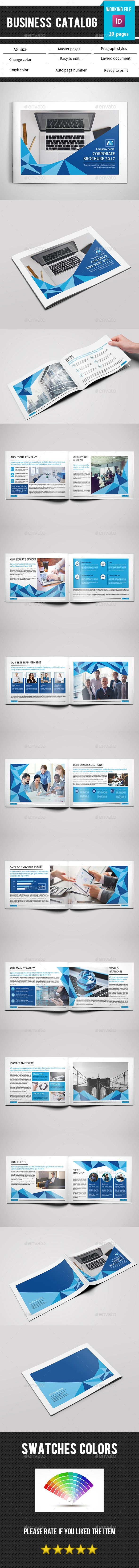 Business Catalog Template InDesign INDD - 20 Pages, A5