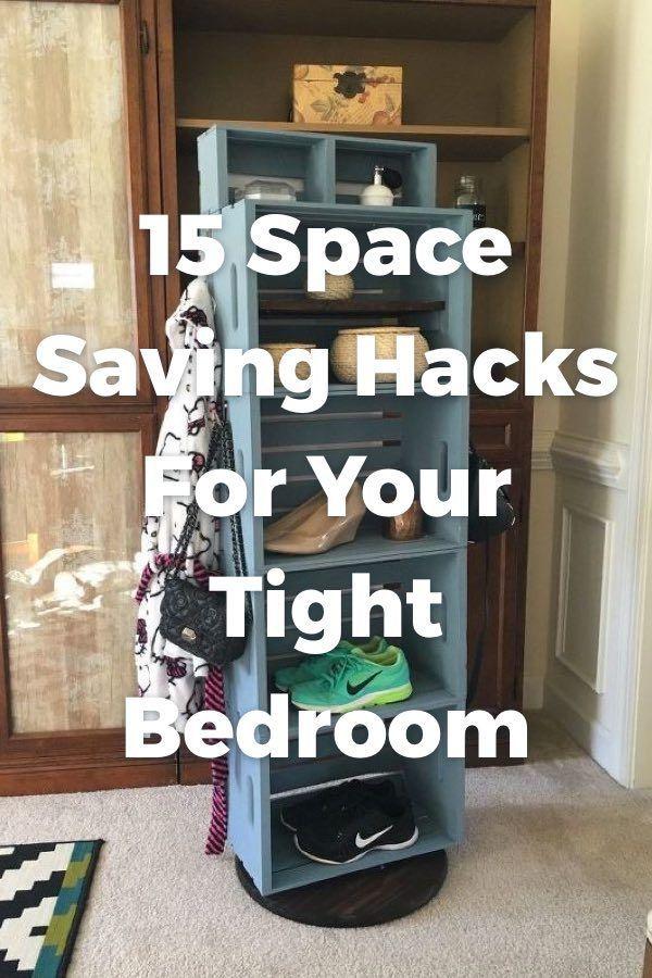 12 Super Easy Bedroom Organization Ideas To Save Tons Of Space Bedroom Organization Diy Organization Bedroom Small Room Organization