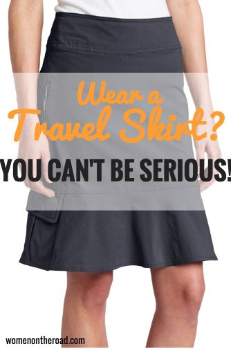 The travel skirt isn't the first item backpacking women might consider taking along - but you should think again.