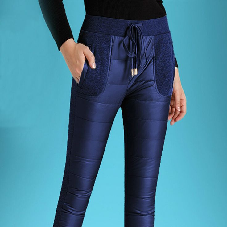 Купить товар2015 брюки зимние леггинсы женские плюс верхней одежды высокой талией дамы водонепроницаемый теплый женщины вниз хлопка брюки большого размера в категории Брюки и каприна AliExpress.                                          Цвет: черный, красный, синий                 Размер: m, l, xl, xxl, XXXL