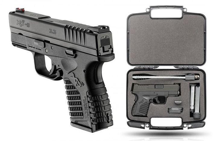 "Springfield XDS Single Stack Essential 9mm 3.3"" Barrel 8 Rnd Black - $379   2 Extra Mags, Pouch and Range Bag after MIR"