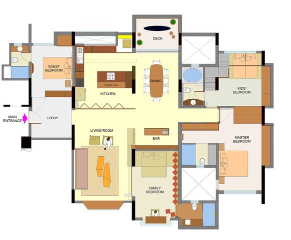 Lights Steal The Show In This Luxury Apartment In Pune Dress Your Home Luxury Apartments Floor Plan Layout Dream House Plans
