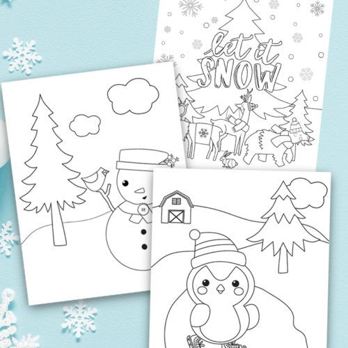 Winter Coloring Pages For Kids Snowman Coloring Pages Coloring