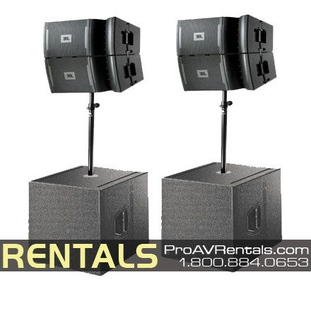 Jbl Vrx Line Array Speaker Package Rental Music