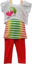 Joli et fashion ensemble 3 pièces pour filles avec un débardeur à rayures, un t-shirt loose court avec motif cerise et leggings assorties vient compléter le tout en un ensemble à craquer. Un prix exceptionnel à profiter pour le lot de 20 ensembles sur Ventegros.fr. Couleurs assorties : blanc, bleu, fuchsia, vert. Tailles assorties : 4-12 ans.
