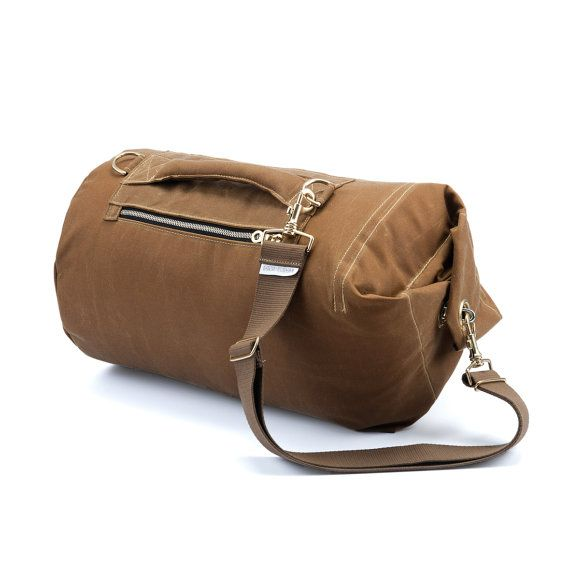 Tombag Waxed Canvas Duffle Medium Banoffee: Gym Bag by Tombag