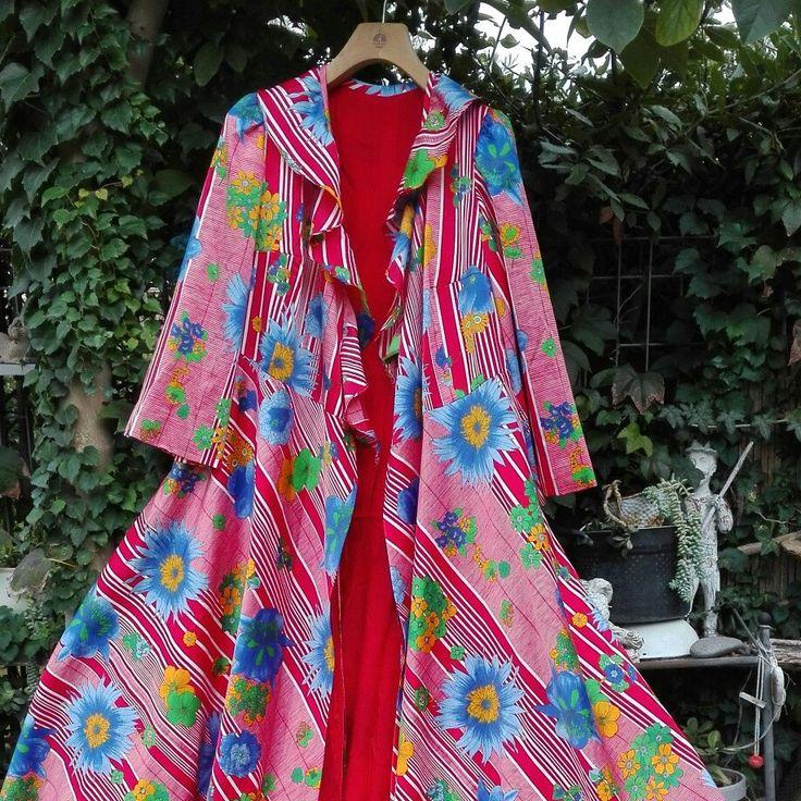 Dressing gown vestaglia anni 70 SPOSA in rosso