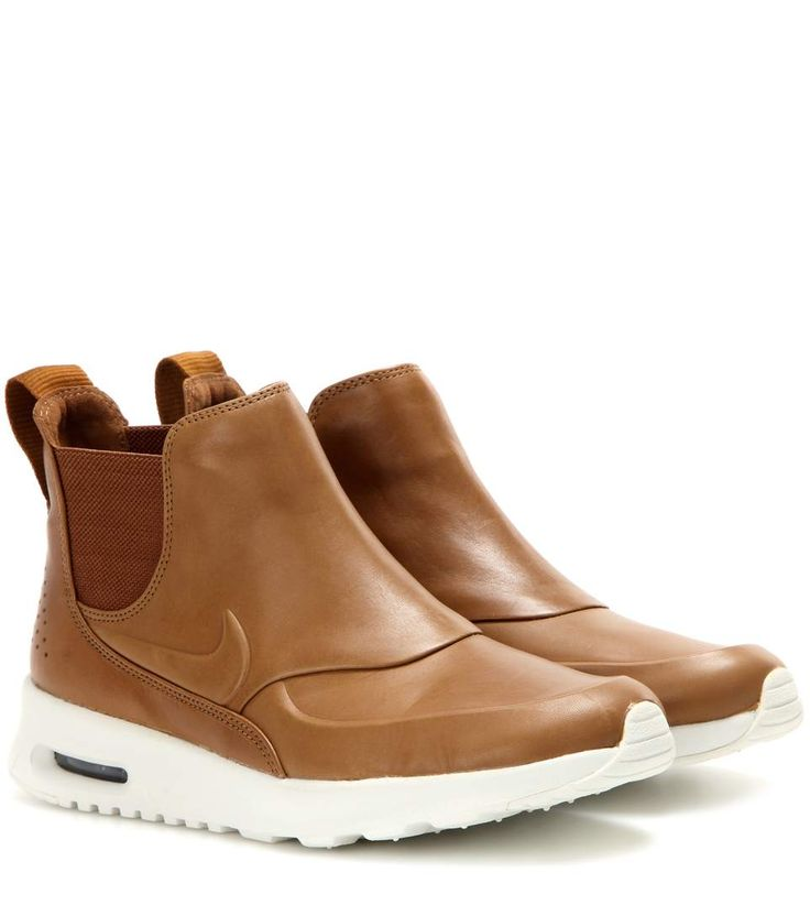 Nike Air Max Thea Mid brown leather sneakers