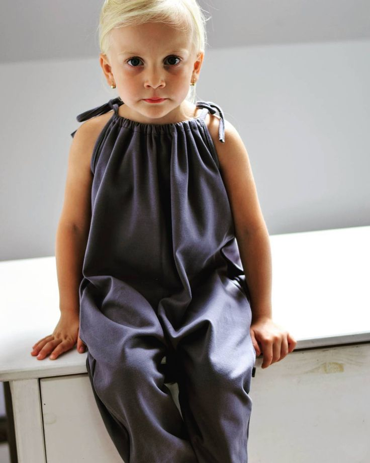 Ready to play in Boxx kids charcoal grey organic playsuit