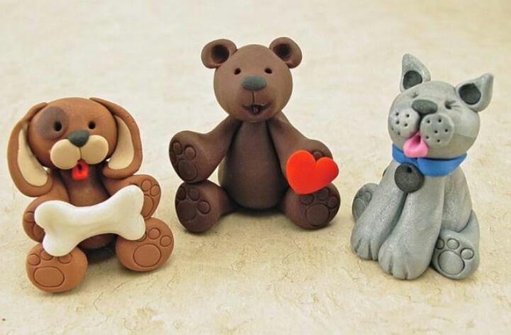 Cute clay animals | ♥**Polymer clay**♥ | Pinterest