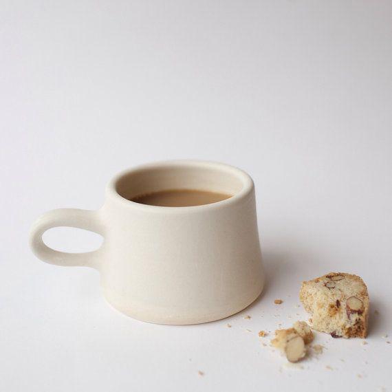 Copenhagen Coffee Mug in Cream by paperandclaystudio on Etsy, $32.00