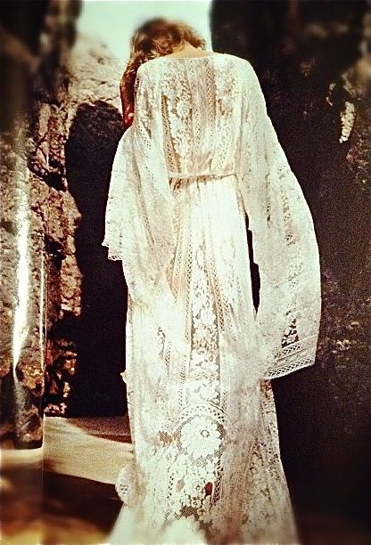 Summertime Rolls..... Lace Maxi Kaftan, White on White, Beyond. Love this so much