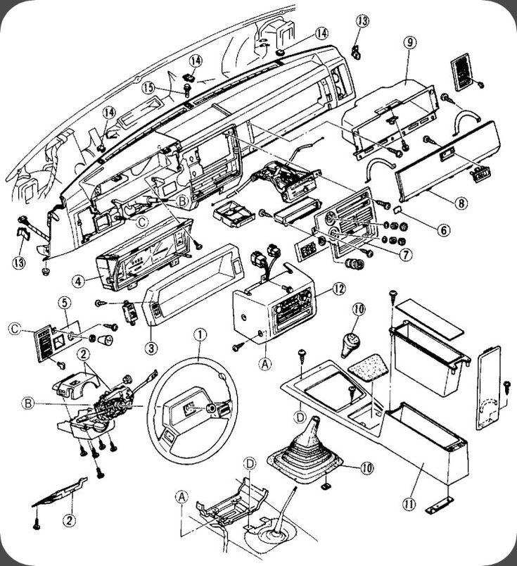 Mazda B2200  B2000  B2600 Dash Removal