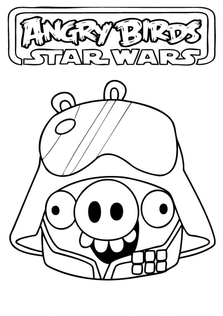 Angry Birds Star Wars Coloring Pages Free Printable With Regard To