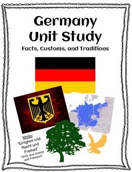 An interactive unit study on Germany!  It is a fantastic unit to use with beginning German language students to give them insight into the culture and traditions of the country of Germany.Included in this packet are map activities and research activities that ignite the students' desire to learn more and the customs and traditions of Germany!
