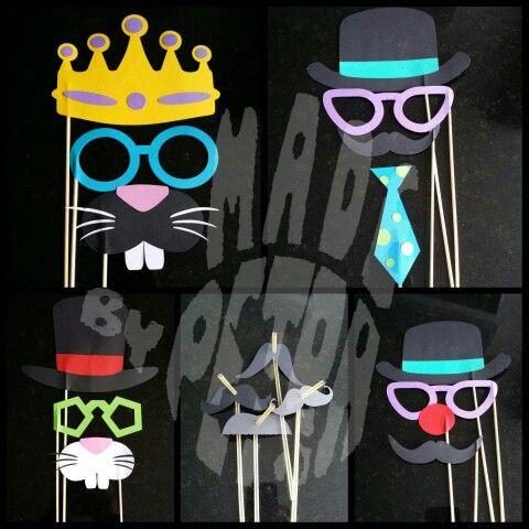 Foto props & snor rietjes / photo props & mustache straws